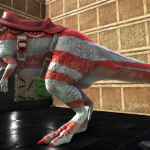 Red White Megalosaurus