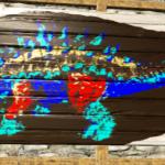 Ankylosaurus Wooden Billboard Sign