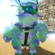 Green Blue PolkaDot Snow Owl