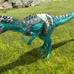 Bright Patterned Allosaurus