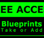 Metal Wall Sign – Access Blueprints – Green and Black