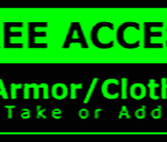 Metal Wall Sign – Access Cloth – Green and Black