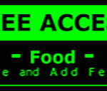 Metal Wall Sign – Access Food – Green and Black