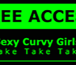 Metal Wall Sign – Access Girls – Green and Black