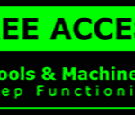 Metal Sign Post – Access Machines – Green and Black