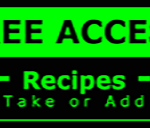 Metal Wall Sign – Access Recipes – Green and Black