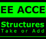 Metal Wall Sign – Access Structures – Green and Black