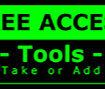Metal Wall Sign – Access Tools – Green and Black