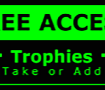 Metal Wall Sign – Access Trophies – Green and Black