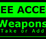 Metal Wall Sign – Access Weapons – Green and Black